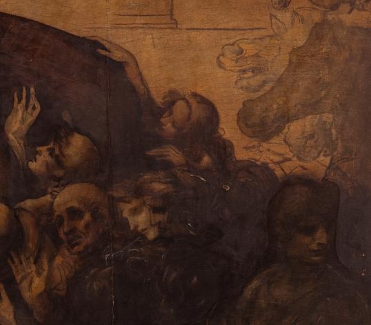 L'Adorazione dei Magi come si presenta oggi, dettaglio. Ph. Pino Zicarelli